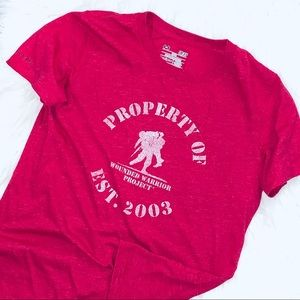 under armour pink/red property of cotton tshirt